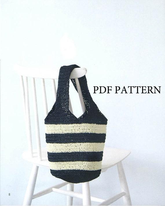 PDF patrón, patrón, patrón de bolso, ganchillo patrón, patrón de ...