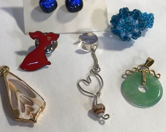 Vintage lot of 6 pieces of Fun  handmade items