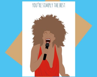 Tina Turner greeting card - Simply the best