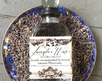 Natural Lavender Water- Toilet De Flora, Perfume, Linen And Room Freshener Lavender Flower Water Lavender Body Spray historical