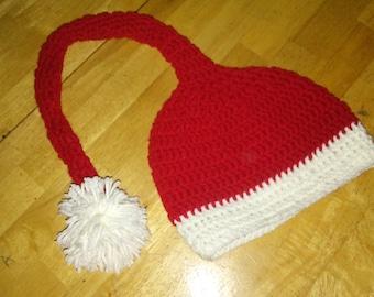Crocheted Infant Santa hat