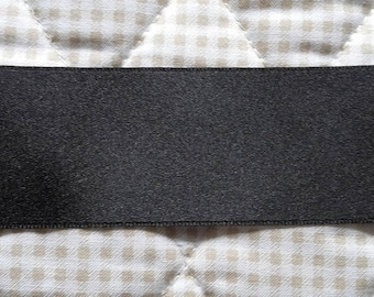 Ribbon SATIN Double sided black 25 mm (2.5 cm) - sale price discount