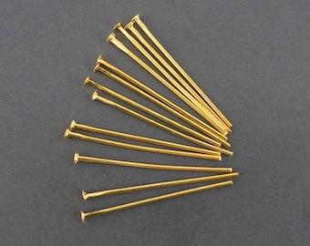 x 100 nail head flat Golden 0.7x24mm (02) stem