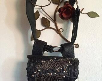 Mini rocker Bag Belt Croco