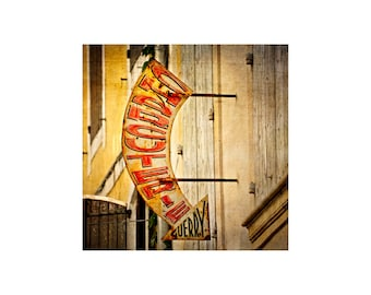 Charcuterie Sign, South of France, Kitchen Art, Gift for Chef, Signage Photography, Typography, Rustic Sign