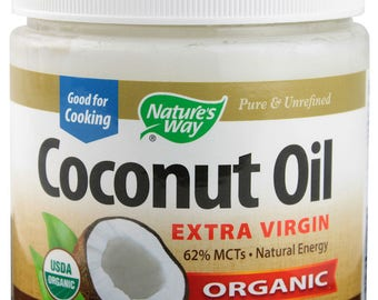Nature's Way Organic Cold Pressed Coconut Oil - Extra Virgin, 16 and 32 Oz