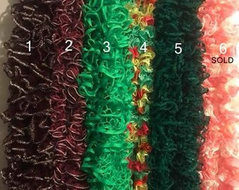You Choose ANY 5 - Handmade Ruffle Scarves - You Pick Your Favorites