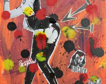 Fetish 6 collage & mix media by Eric Lafoy