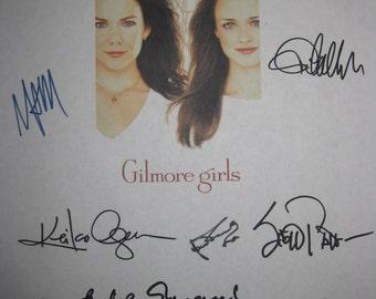 The Gilmore Girls Signed TV Pilot Script Screenplay AutographsX11 Lauren Graham Alexis Bledel Melissa McCarthy Jared Padalecki Alex Borstein