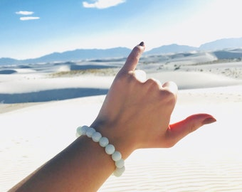 Mint Jade Gemstone Bracelet, Gemstone Bracelet