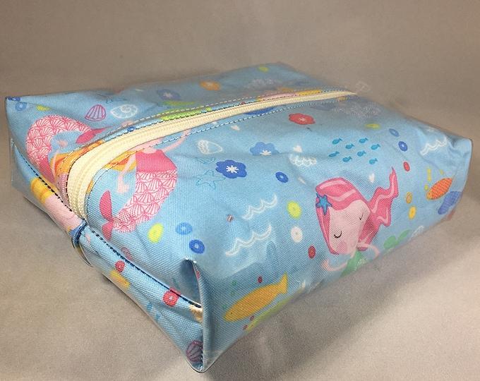 Make Up Bag - Mermaid Box Shaped Cosmetic Bag