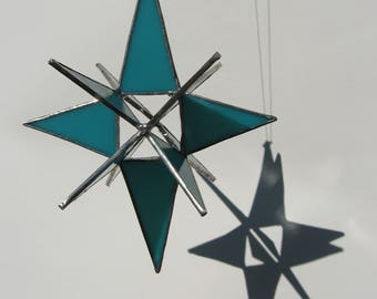 moravian star in turquoise