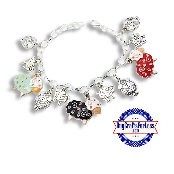 SHEEP Charm Bracelet  **FREE Shipping with orders 10 dollars+ **