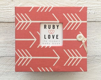 BABY BOOK | Coral Arrows Silhouette Album