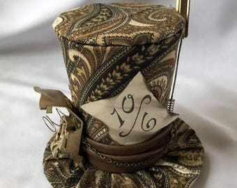 Tiny Top Hat: Steam Punk Mad Hatter Paisley - Alice in wonderland Steampunk gears vintage mad hatter tea party teaparty cosplay costume