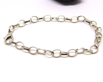 large ring adjustable by 1 or 5 pieces, silver bracelet charm bracelet to customize