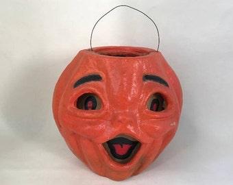Vintage Halloween Paper Mache Jack-O-Lantern Choir Boy