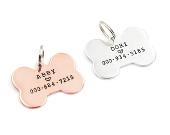 Custom Dog Tag, Dog id tag, Personalized Dog id tag, Dog Bone tag, Poppy id tag, Cat id tag, Dog Tag, for my pet, Custom dog id tag