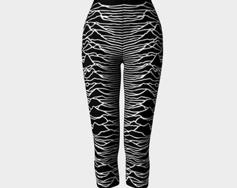 unknown pleasures - joy division - fitted printed capri