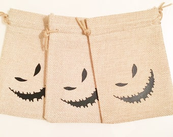 Nightmare before Christmas bag, Oogie Boogie, Nightmare Before Christmas party, Oogie Boogie bags, Burlap bags, party bags, party favors