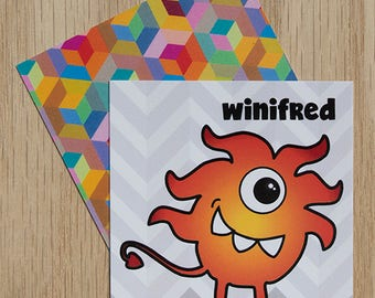"Replacement Card ""Winifred"" — Oh Those Monsters: Memory Game"