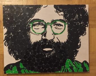 Jerry Garcia Guitar Pick Portrait