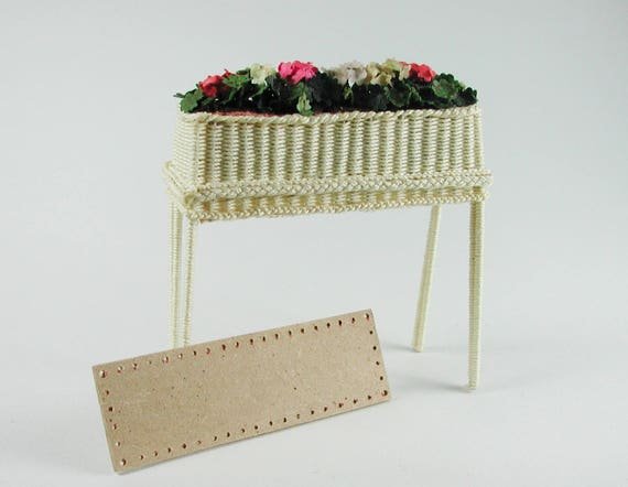 Board approx. 8 x 2.5 cm, for flower bench, floor for Wicker, for tinkering for the doll's room, Dollhouse miniatures, model making