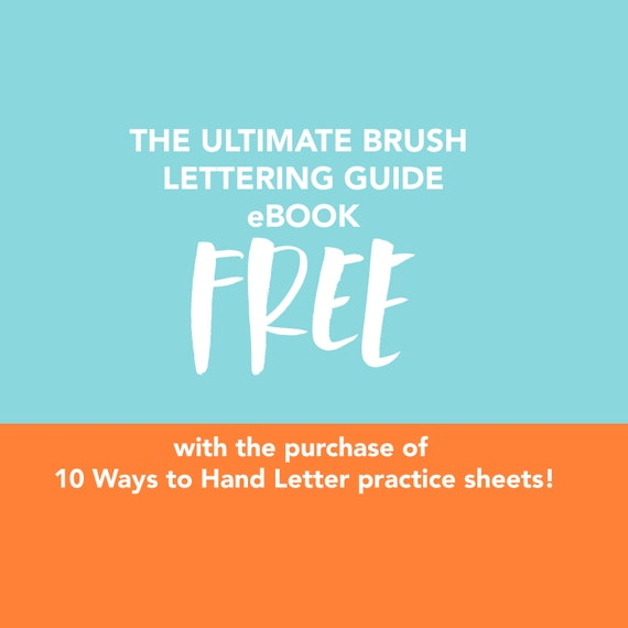 This weekend only bundle save free ebook ultimate brush free ebook ultimate brush lettering guide 10 ways to hand letter the alphabet uppercase lowercase fandeluxe Gallery