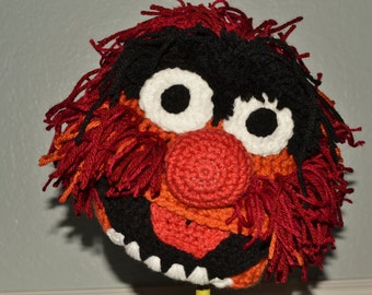 Crochet Animal the Muppet Hat - crochet muppets hat - Halloween costume for boys or girls