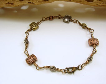Unisex Mixed Metal Bracelet