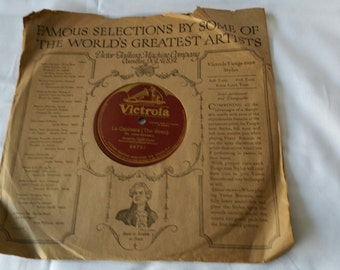 La Capinera Sir Julius Benedict Amelita Galli-Curci - Victor Phonograph 10 Inch 78 RPM record -Victrola 64792 with Nice Sleeve