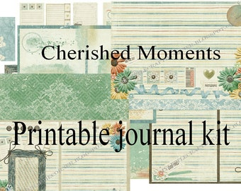 Cherished Moments printable Journal kit INSTAND DOWNLOAD