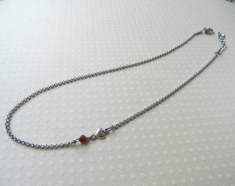 Choker necklace, mom necklace, birthstone necklace, personalized necklace, family necklace, heart choker, heart necklace