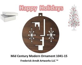 1041-15 Mid Century Modern Christmas Ornament