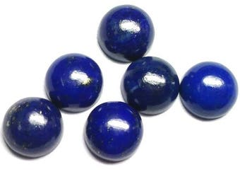 10 pcs 11mm lapis lazuli cabochon, natural lapis lazuli round cabochon gemstone, Lapis Lazuli Cabs Round 11mm, lapis lazuli cabochon round