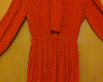 NWT 80s Vintage Valentine's Day Secretary Dress/Secretary Dress/Valentine's Day Dress/Valentine's Day