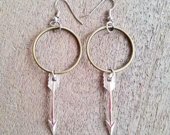 Hoop & Arrow Earrings