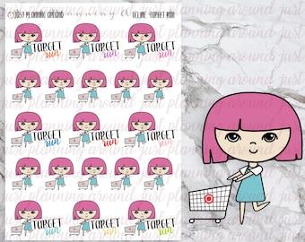 Shopping, Target Run, Celine Stickers, Hand Drawn, Planner Stickers, Hand Drawn Stickers