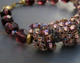 Violet Glow Cellini Spiral Bracelet