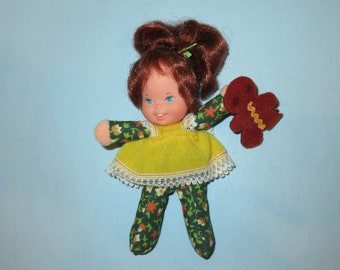 "Vintage 1975 Mattel Honey Hill Bunch ""Sweetlee"" Doll with Felt Gingerbread Cookie"