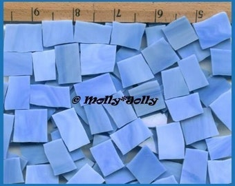 Mosaic Tiles 25 BABY LIGHT BLUE Stained Glass Mosaic Tile