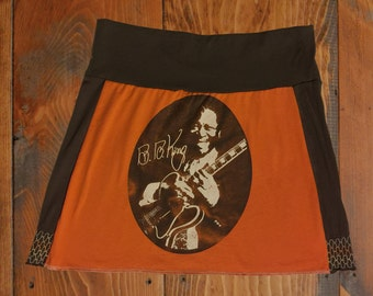 BB King T-Shirt Skirt, Size Large