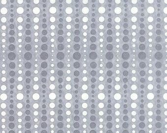 Moda Hugaboo Grey Gray White Dot Brushed Flannel 19739-18B BTY