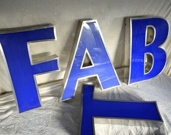 Large vintage signage letters typography industrial retro