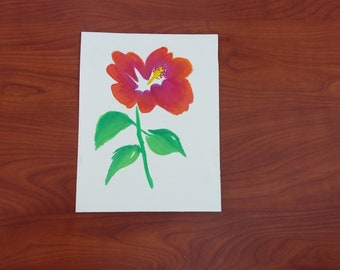 Flower in Watercolor