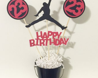 4 piece Jordan happy birthday centerpiece