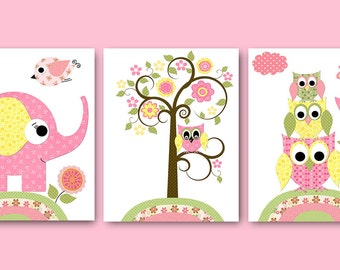 Digital Print Digital Download Instant Download Baby Nursery Decor Baby Girl Nursery Decor Download Digital Art Download set of 3 8x10 11X14