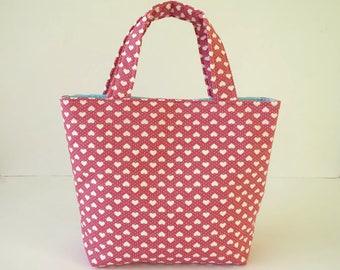 Girl's Bag, Mini Tote Bag, Kids Bag, Handbag for Girls, Kids Tote, Girls Tote, Pink Tote Bag, Kids Fabric Bag, Little Girls Bag, Cute Tote