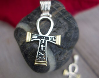Ankh Cross. Sterling silver Cross of Life.