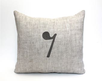 """rest pillow, musician gift, music lover, music pillow, music gift, music room decor, music room pillow """"The Eighth Rest"""""""